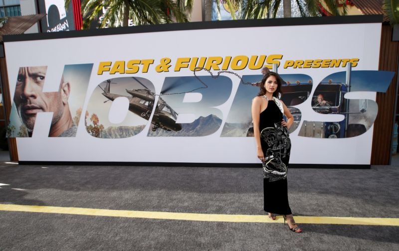 """Cast member Elza Gonzalez poses at the premiere for """"Fast & Furious Presents: Hobbs & Shaw"""" in Los Angeles, California, U.S., July 13, 2019. REUTERS/Mario Anzuoni"""