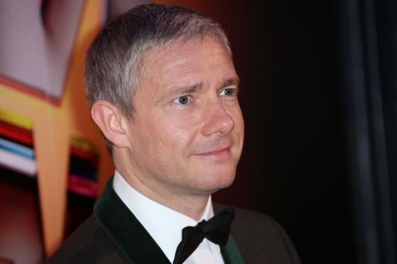 Martin Freeman poses for photographers upon arrival at the London Film Festival Awards, at Banqueting House in central London, Saturday, Oct. 17, 2015. (Photo by Joel Ryan/Invision/AP)