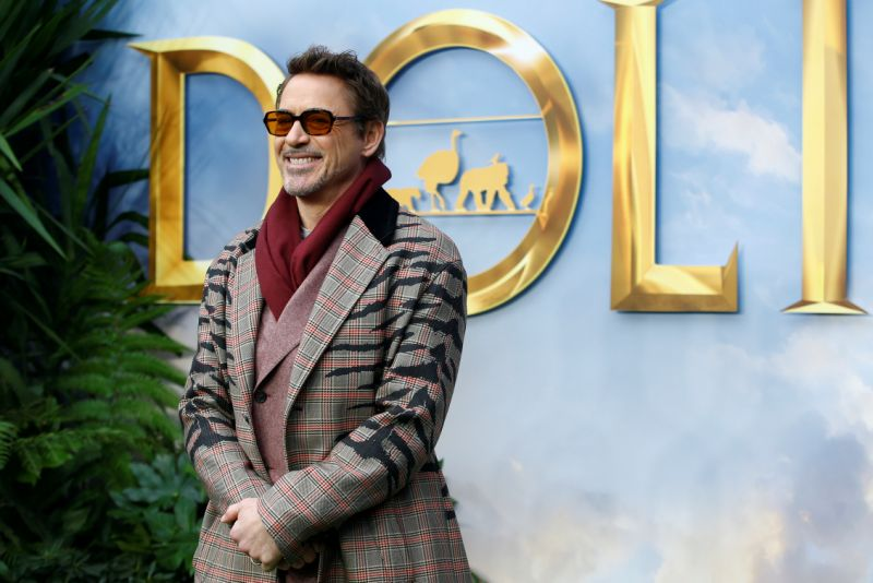 "Cast member Robert Downey Jr. poses at a special screening of ""Dolittle"" in London, Britain, January 25, 2020. REUTERS/Henry Nicholls"