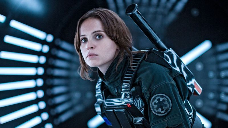 Felicity Jones in 'Rogue One: A Star Wars Story'. (Credit: Lucasfilm/Disney)